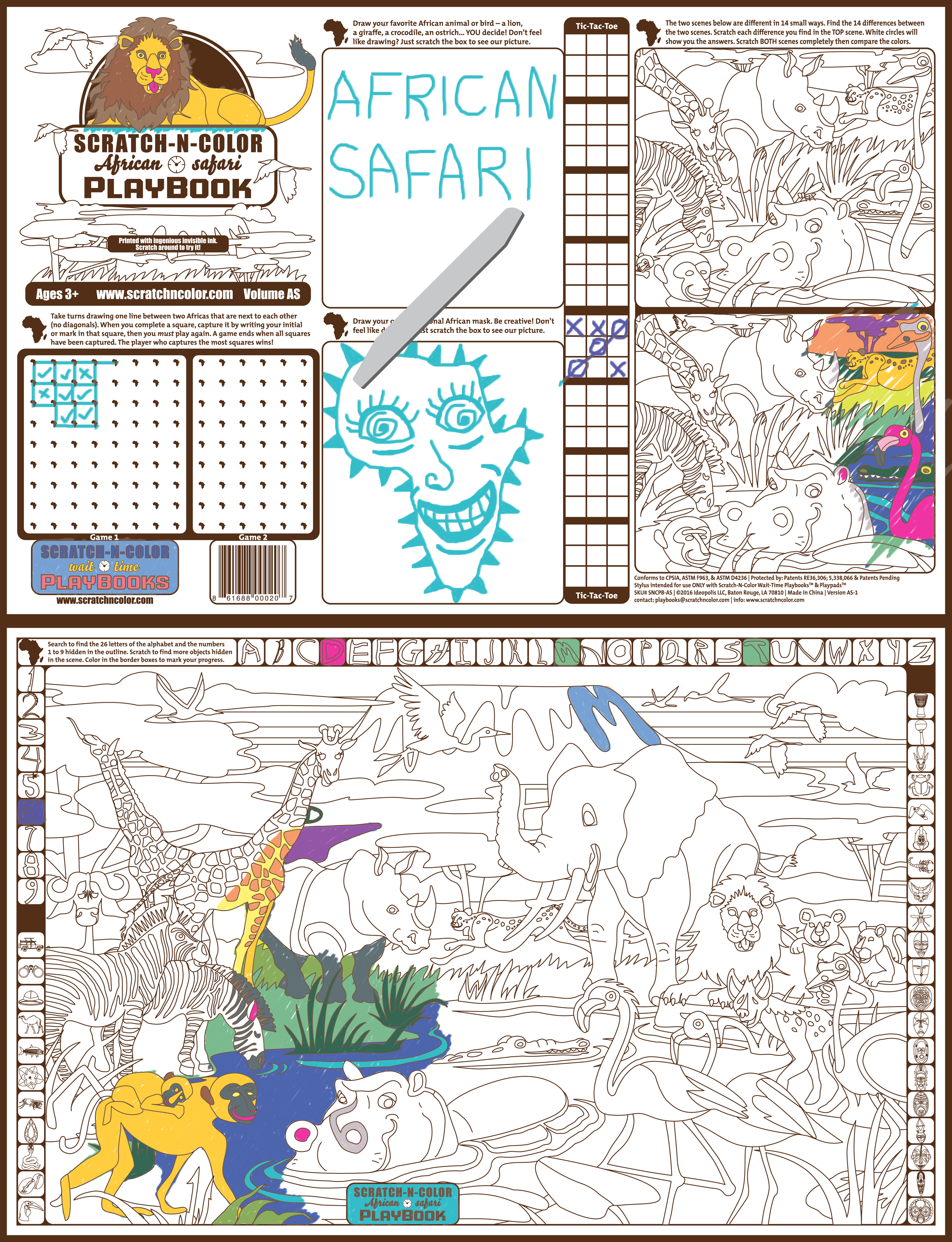 NEW! ENGLISH Scratch-N-Color Wait-Time Playbooks™ (Carton of